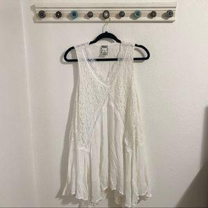 NWOT White Lace Tank Top Dress